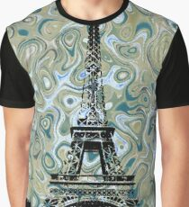 Eiffel Tower Marble Sky Graphic T-Shirt