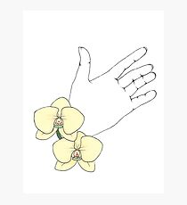 The Hand of an Orchid Photographic Print