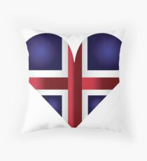 Heart of Iceland Throw Pillow