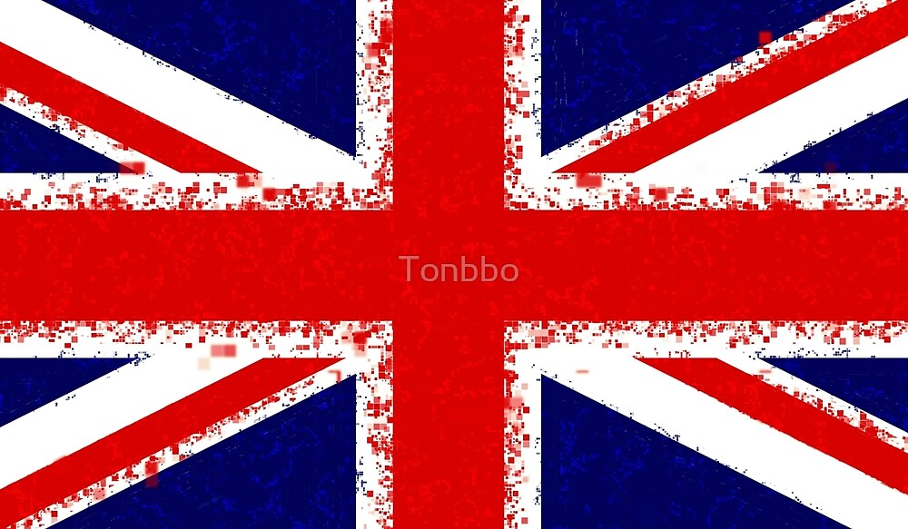 Grungy Union Jack by Tonbbo