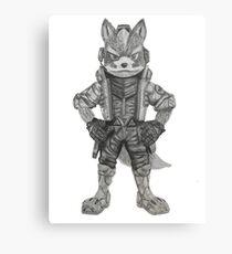 Fox McCloud Drawing Canvas Print