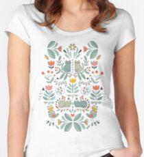 Swedish Folk Cats Women's Fitted Scoop T-Shirt