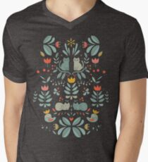 Swedish Folk Cats Men's V-Neck T-Shirt