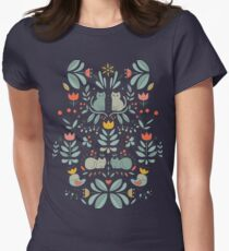 Swedish Folk Cats Women's Fitted T-Shirt