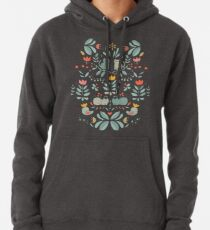 Swedish Folk Cats Pullover Hoodie