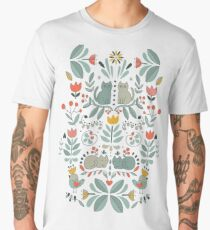 Swedish Folk Cats Men's Premium T-Shirt