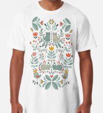 Swedish Folk Cats Long T-Shirt