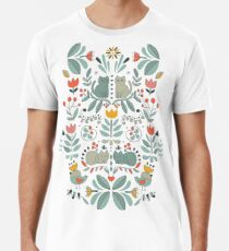 Swedish Folk Cats Men's Premium T-Shirt