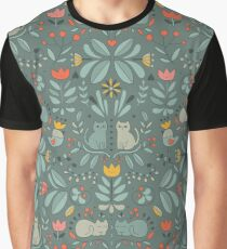 Swedish Folk Cats Graphic T-Shirt