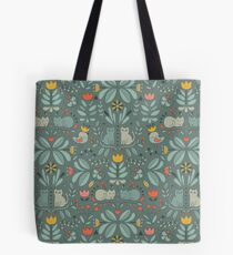 Swedish Folk Cats Tote Bag
