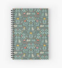 Swedish Folk Cats Spiral Notebook