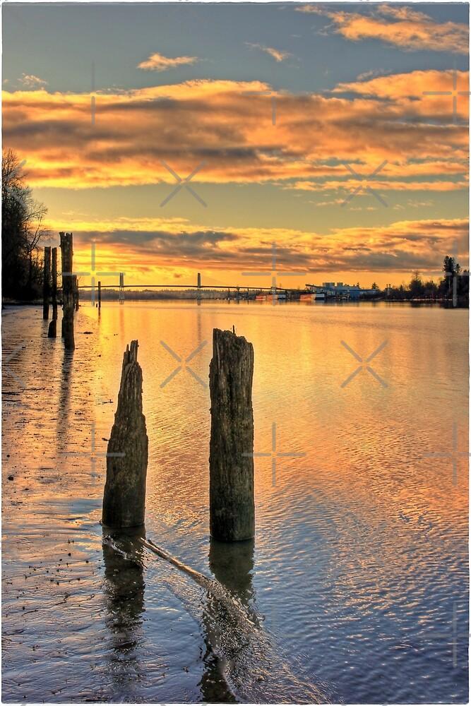 Sunset River by Erniesartwork