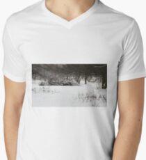 old deserted orchard Men's V-Neck T-Shirt