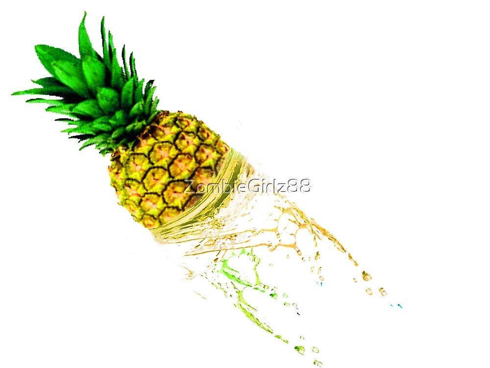Fruit Splash!!!!!! Pineapples by ZombieGirlz88