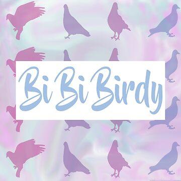 Bi Bi Birdy Print by glitchcraft