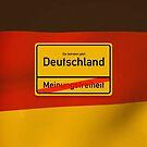 Deutschland - Meinungsfreiheit  von Black Sign Artwork