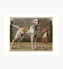 Tobias und der Engels Hund Kunstdruck