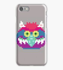My Pet Monster in Grey - 8 bit, Geometric, Block, Square, Gray, Purple, Pink, Hot, Teal, Mint, Green, Vintage, Retro, Inspired, 80s, Baby, Blue, Yellow, Coral iPhone Case/Skin