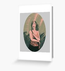 Palm Girl Greeting Card
