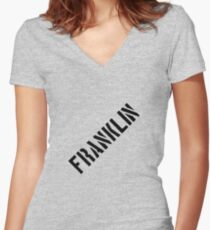Franklin  Women's Fitted V-Neck T-Shirt