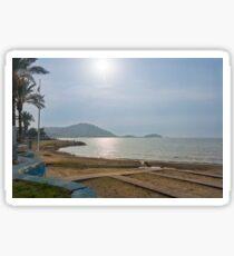 The Beach at Kusadasi, Turkey Sticker