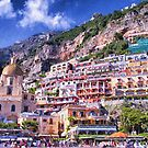 Looking Up At Positano's Beauty by daphsam