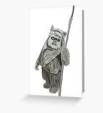 Ewok Greeting Card