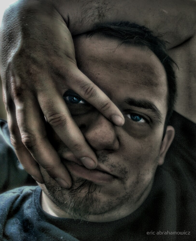 selfportrait with the hand by eric abrahamowicz