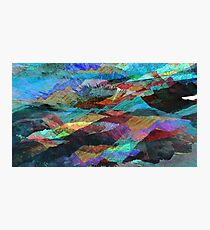 Pigment Mountains Photographic Print