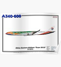 """Airbus A340-600 - China Eastern Airlines """"Expo 2010"""" (Art Print) Poster"""