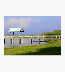 Dock on the Beach Inlet Photographic Print