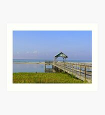 Dock on the Beach Art Print