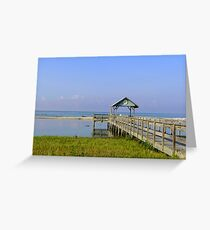 Dock on the Beach Greeting Card