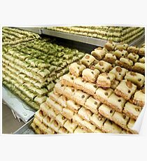 Baklava sweet Middle Eastern pastries. Photographed in Israel Poster