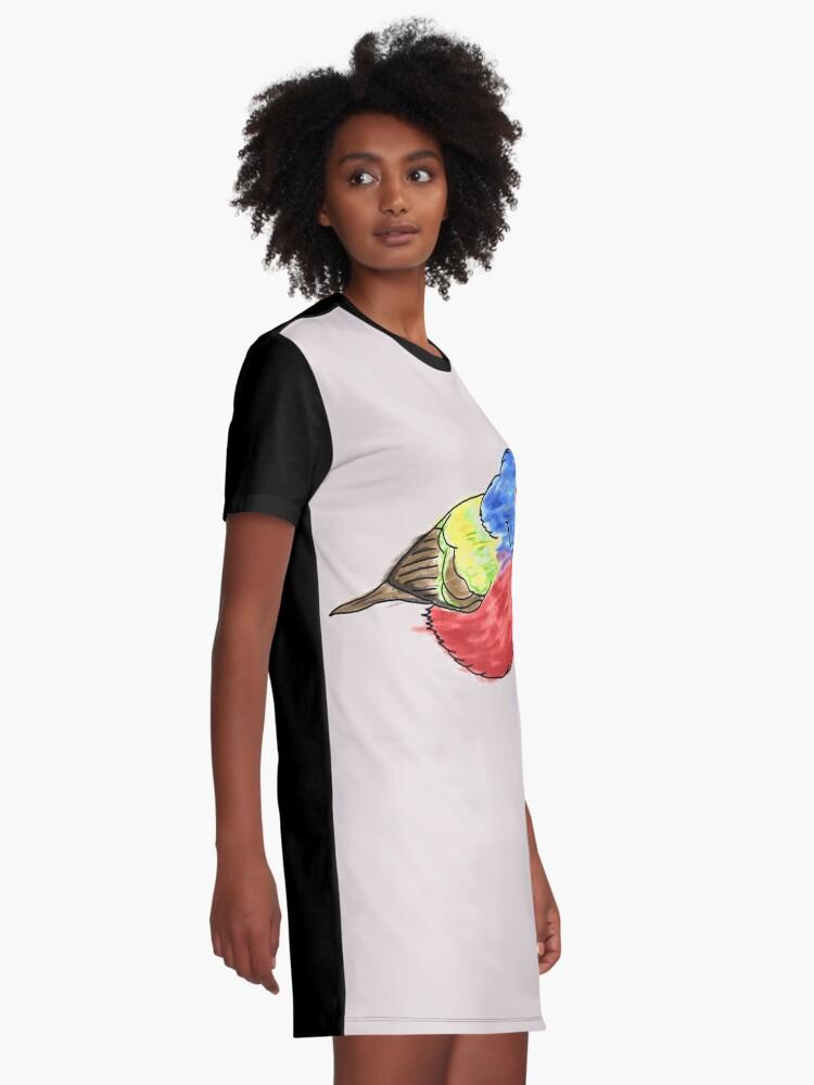 Alternative Ansicht von Bemalte Bunting T-Shirt Kleid