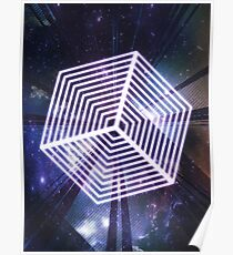 Glowing Cube  Poster