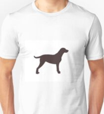 curly coated retriever color silhouette T-Shirt