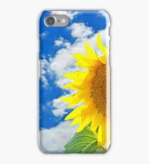 Sunflower against of blue sky and white clouds. iPhone Case/Skin