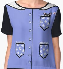 """Peekaboo Kitty"" Digital Design Women's Chiffon Top"