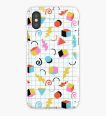 Clutch - retro minimal geometric memphis trendy pattern gifts 80s style 1980's vibes iPhone Case/Skin