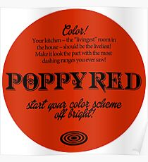 Poppy Red, Seventies Color Celebration! Poster