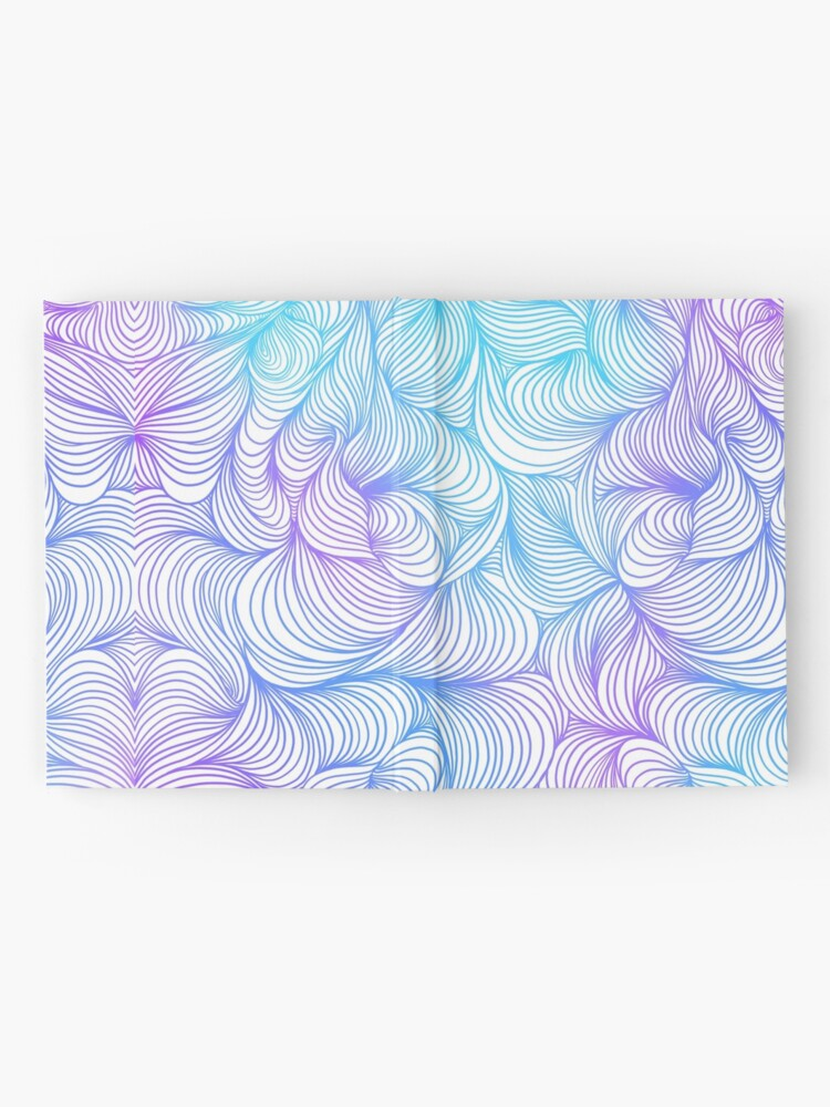 Alternate view of Blue and Purple Swirls Hardcover Journal