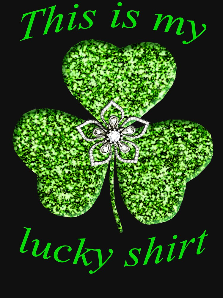 Funny Green Glitter Shamrock With A Flower by Atteestude