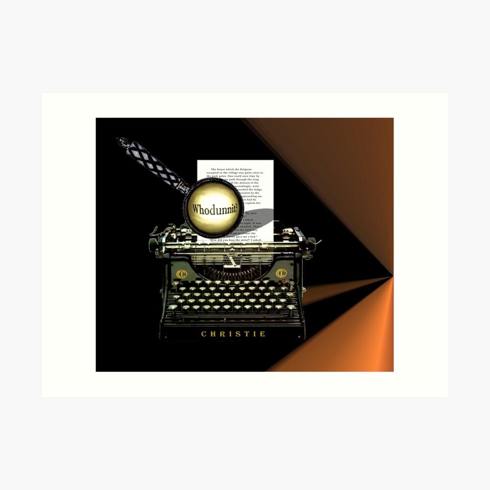 Agatha Christie kennt Whodunnit! Kunstdruck