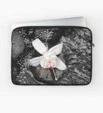 White Fuchsia Laptop Sleeve