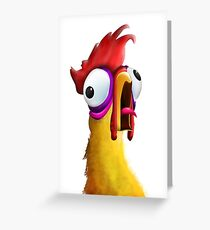 Screaming Chicken Greeting Card