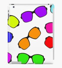 Set of multicolored glasses on white background. iPad Case/Skin