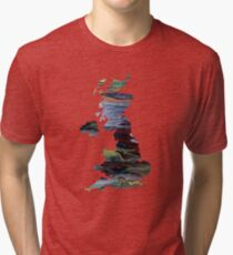United kingdom silhouette Tri-blend T-Shirt