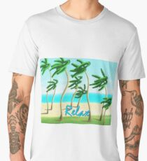 Relax at the Beach With Me Men's Premium T-Shirt