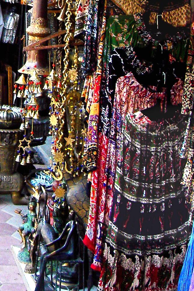 Indian Market Place by satwant
